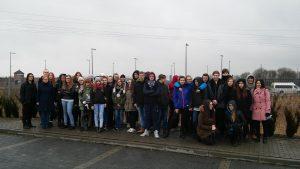 Gimnazjaliści w Muzeum Auschwitz – Birkenau.